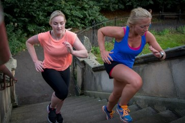 PR photography of young people doing physical training outdoors in Edinburgh