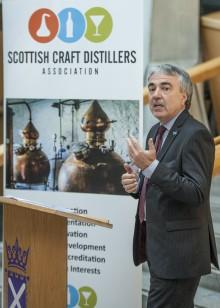 Scottish Craft Distillers event held at the Scottish Parliament. Tony Reeman-Clark, Chair of Scottish Craft Distillers Association , speaks at the event PIC PHIL WILKINSON info@philwilkinson.net www.philwilkinson.net 01316186373 - 07740444373
