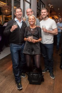 Hotel PR photograph of Simon Tayburn, Scott Tayburn, Liam Tayburn and Elaine Tayburn in Tigerlily, Edinburgh
