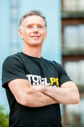 Scott Douglas of Holyrood PR prepares for the Total Warrior event
