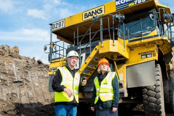 Hannah Bardell, MP for Livingston, visited the Banks Mining open cast site at Rusha, West Calder (c) Wullie Marr/HPR For pic details, contact Wullie Marr........... 07989359845
