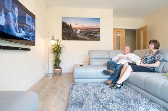 Alan and Sara enjoying their new CALA home in Perth (c) Wullie Marr/HPR For pic details, contact Wullie Marr........... 07989359845