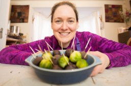 Food and drink PR photos of Chocolate-coated brussels sprouts,