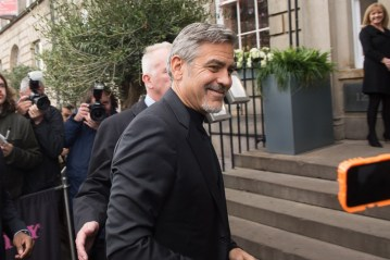 George Clooney visiting top Edinburgh restaurant Tigerlily, involving food and drink PR experts, Holyrood PR in Scotland