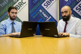 IN PIC........ Ethical Hackers, Pablo Crossa and Greg Hyslop of SBRC (c) Wullie Marr/DEADLINE NEWS For pic details, contact Wullie Marr........... 07989359845