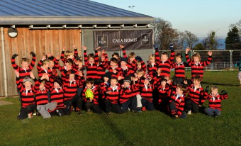 Cala Homes - training shirts for the  Norh Berwick mini rugby team.