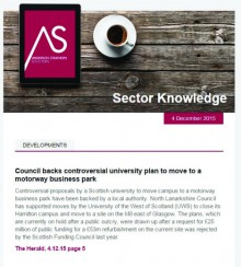 Holyrood PR agency in Edinburgh Sector Knowledge