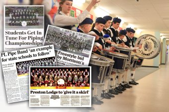 PR success for school bagpiping campaign