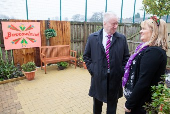Alex Neil MP is given tour of Oakburn Park Sensory Garden