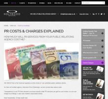 Holyrood PR fees and charges are published prominently on our website