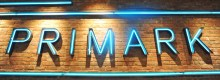 Illuminated Primark storefront sign