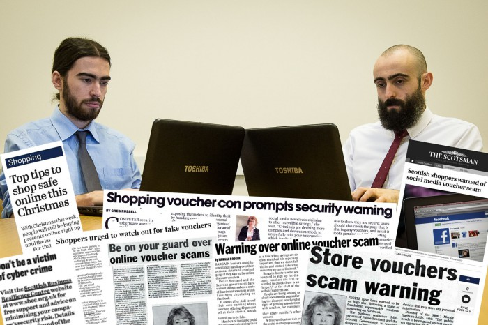 Scottish Business Resilience Centre Media Coverage Voucher Scams