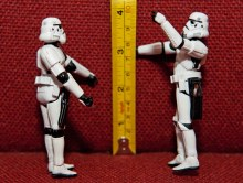 Stormtroopers with a measuring tape