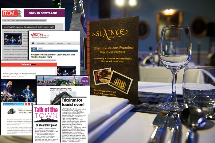 Pictures of the launch night of the Surgeon's Hall, Slainte, Scottish night. IN PIC................. (c) Wullie Marr/HPR For pic details, contact Wullie Marr........... 07989359845