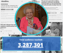 media coverage of Ruby Mathieson, 100, who has never worn makeup |Social Care PR story