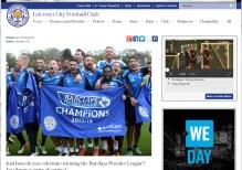 The website of Leicester City FC, Premier League Champions