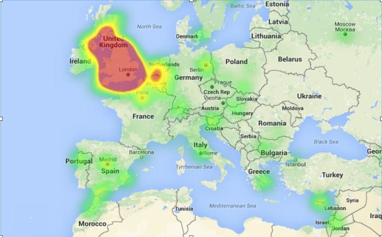 EU Twitter Map Europe