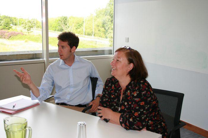 public relations photo Paul Richoux and Lynda McEwan