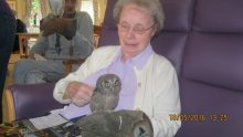 BUPA resident with Owl