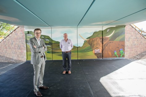 Bell Ingram Design have completed a new 'fly over' to solve an access problem between livestock and people visiting the Royal Highland Show