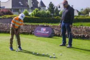Making every putt count on practice day of U.S. Kids Golf Europe