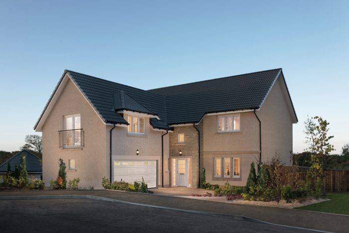 Exterior of The Melville at Craigpark development
