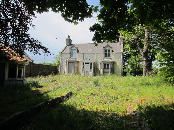 Exterior of Bridgend Farm, four bedroom farmhouse beside Kintore, sold by Bell Ingram