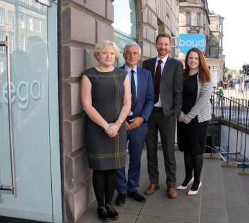 Boyd Legal internal promotions team. Pictured L-R; Rachel Brandon, Peter Boyd, Graeme Thomson, Claire Ferguson