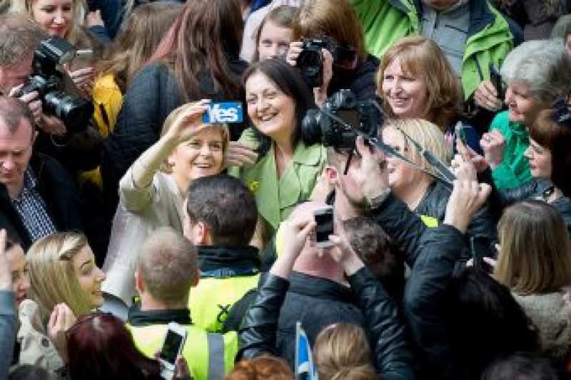 Nicola Sturgeon is Scotland's 'selfie queen'