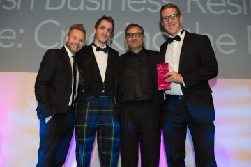 Gold PR award for Corporate and Business Communications presented to Holyrood PR in 2016