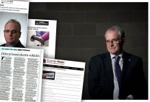 Eagle Couriers Boss - Jerry Stewart featured in a coverage montage mad by Scottish PR Agency - Holyrood PR