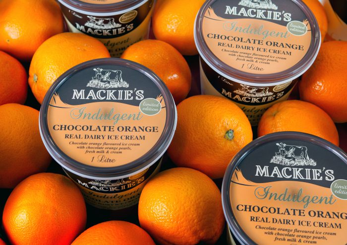 Mackie's choc orange ice cream - award winning PR photography