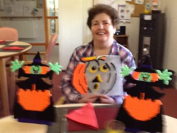 Bield tenant with Halloween decorations by Edinburgh PR