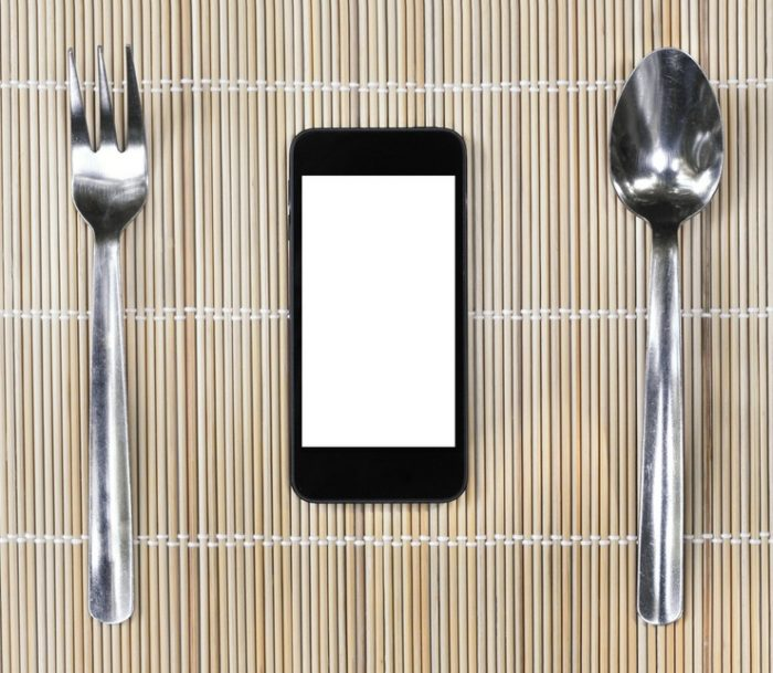 Food and Drink PR - Photo of Phone between fork and spoon