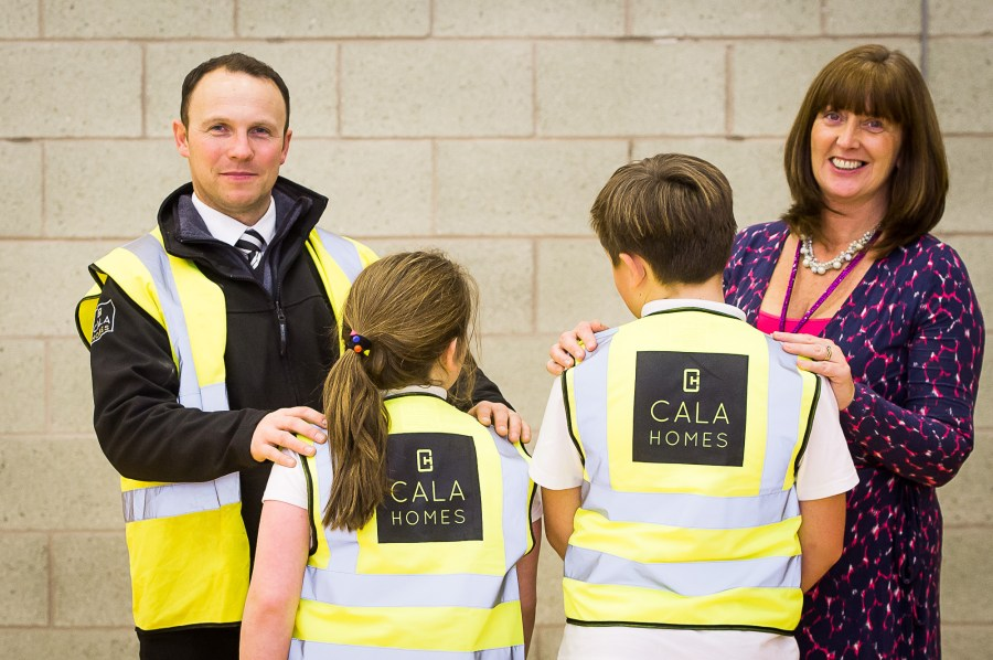 Cala Homes high visibility vests for school kids