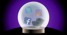 Social Media PR Predictions - Crystal Ball with items in it
