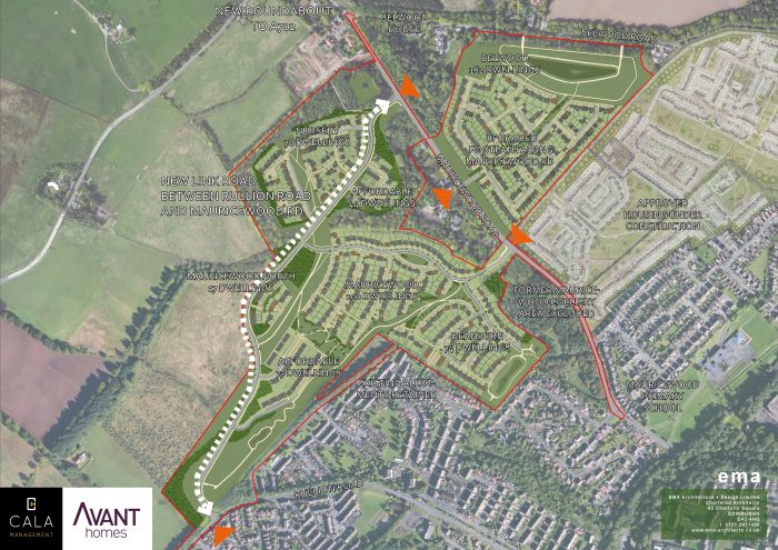 Map of Penicuick Development resulting from planning PR success