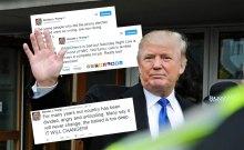 Trump Twitter Collage made by Edinburgh PR agency