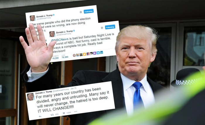 Trump Twitter Collage made by Edinburgh PR agency, Holyrood PR