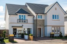 PR Photos of the front of a Law Gardens showhome