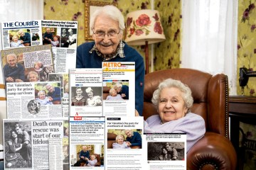 PR photograpy for Bupa of care home couple celebrating 71st Valentine's Day togeether