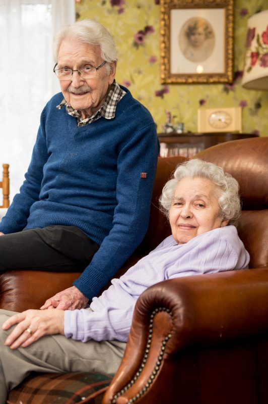 John and Edith MacKay, 96 and 92 celebrating their 71st Valentines day together.
