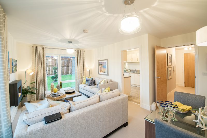 The Living Room at Dalmeny Park Apartments, South Queensferry is captured by PR Photography