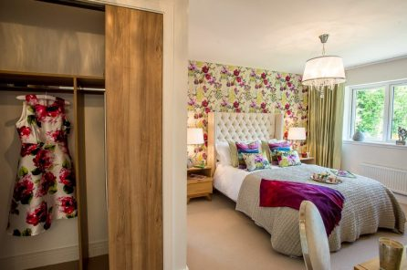 CALA Homes Kinleith Mills Flowery Bedroom as shown by PR Photgraphy