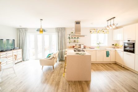 The open-plan kitchen/living room at one of the new show homes at Liberton Braes (PR Photography: Wullie Marr)