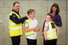 PR Photography captures the moment Two children from Loanhead Primary School show off their new high-visibility jackets alongside their Headteacher and a representative from CALA Homes