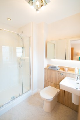 The bathroom at one of the new show homes at Liberton Braes (PR Photography: Wullie Marr)