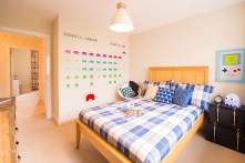 The bedroom at one of the new show homes at Liberton Braes (Photo: Wullie Marr)