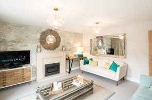 The living room at one of the new show homes at Liberton Braes (PR Photography: Wullie Marr)