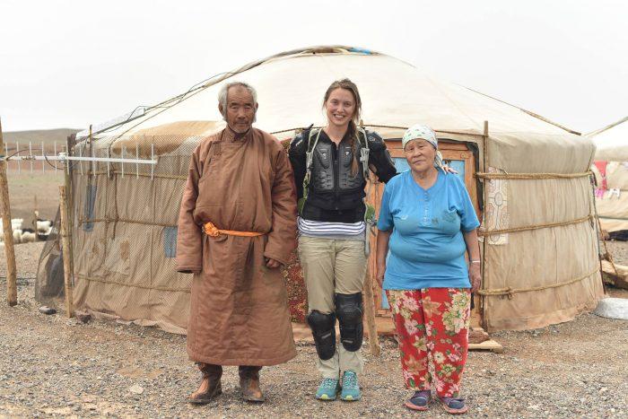 Zara Morris Trainer in Mongolia. Mackie's of Scotland Food and drink PR.